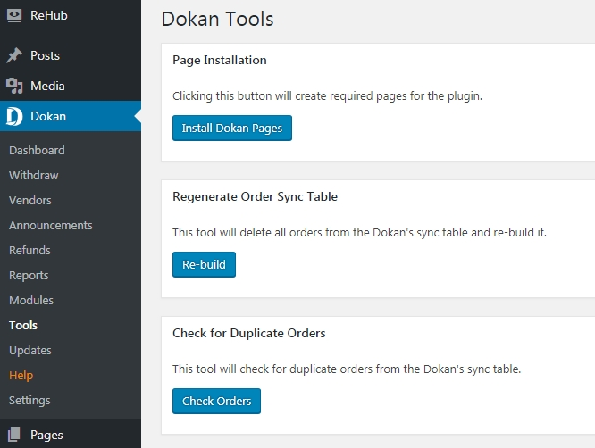 Image of Dokan Admin Backend Tools